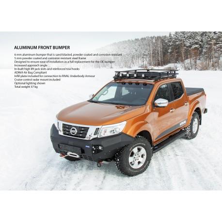 Rival Bumper - Alu Stoßstange vorne mit TÜV Nissan Navara NP300 2016-