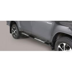 Misutonida Schwellerrohre - mit Design Trittauflage, oval - schwarz - Toyota