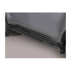 Misutonida Schwellerrohre - mit Kunststoff Trittauflage, 76 mm - schwarz - Toyota