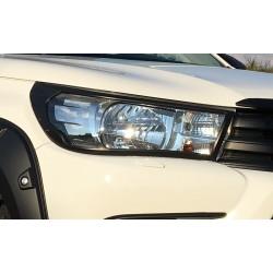 Scheinwerfer Abdeckungen Set Schwarz Toyota HiLux 2015-