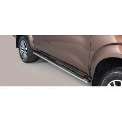 Misutonida Schwellerrohre - mit Kunststoff Trittauflage, oval - Nissan Navara D/C 16-