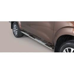Misutonida Schwellerrohre - mit Design Trittauflage, oval - Nissan Navara D/C 16-