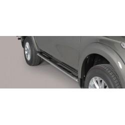 Misutonida Schwellerrohre - mit Kunststoff Trittauflage, oval - Mitsubishi L200 D/C 15-