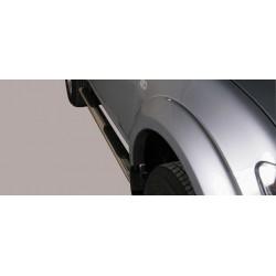 Misutonida Schwellerrohre - mit Kunststoff Trittauflage, oval - Mitsubishi L200 D/C 10-14
