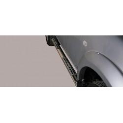 Misutonida Schwellerrohre - mit Design Trittauflage, oval - Mitsubishi L200 D/C 10-14