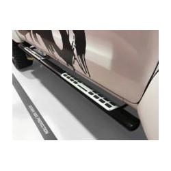 Misutonida Schwellerrohre - mit Design Trittauflage, oval - schwarz - Volkswagen Amarok D/C 10-