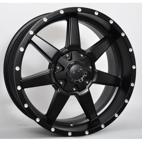 """Dirt D39 schwarz matt/miled rivets oder matt gunmetal Alufelge 20""""  ET12 Jeep Wrangler, Dodge Ram"""