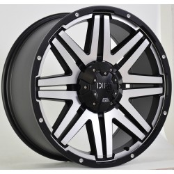 "Dirt D68 schwarz matt/machined face ET25 Alufelge 20"" TÜV Nissan, Renault, Mercedes"