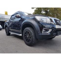 Kotflügelverbreiterung schwarz grau matt Nissan Navara NP300 EURO5