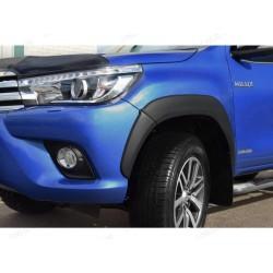 Kotflügelverbreiterung klein Schwarz matt Toyota HiLux 2016-