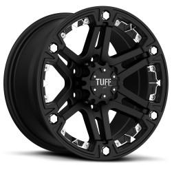 "TUFF T01 Alufelge 18"" schwarz/chrome Jeep Wrangler VW Amarok"