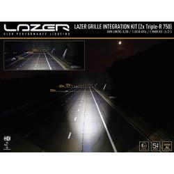 Lazer Lamps Triple R 750 Standard Kühlergrill LED Fernscheinwerfersatz-X-Klasse 2017-