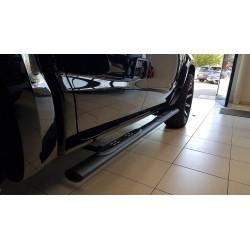 Misutonida Schwellerrohre - mit Kunststoff Trittauflage, oval - schwarz - Volkswagen Amarok D/C 10-