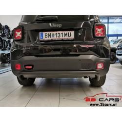 Stoßstange schwarz - Heckstoßstange Rammschutz hinten - schwarz Jeep Renegade