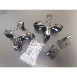 X Schelle für Zusatzscheinwerfer 2 Stück im SET - Universal - schwarz