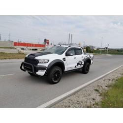 Kotflügelverbreiterung Schwarz matt Ford Ranger